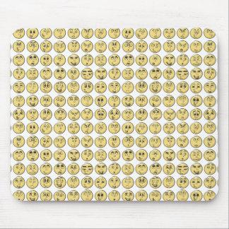 Estilo retro da banda desenhada de Emoji Mousepad