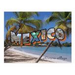 Estilo retro do cartão de México do Maya de Rivier Cartao Postal