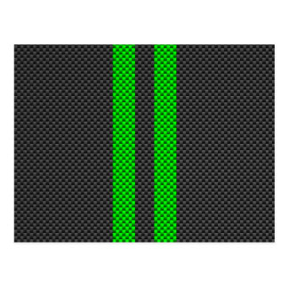 Estilo verde da fibra do carbono que compete cartão postal