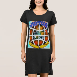 Estilo: Vestido alternativo do t-shirt do roupa