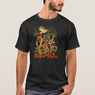 Estilos da reggae tshirt