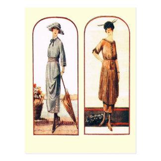 Estilos novos para senhoras elegantes cartão postal