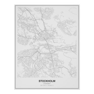 Éstocolmo, suecia, poster minimalista do mapa