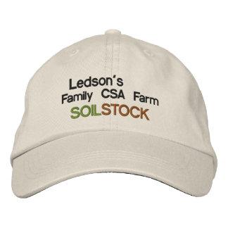 Estoque do solo - chapéu bordado fazenda da boné