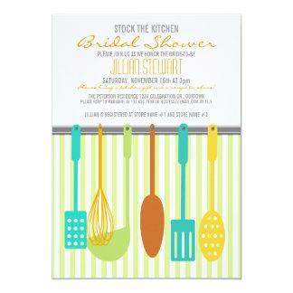Estoque na moda os chás de panela da cozinha convite 12.7 x 17.78cm