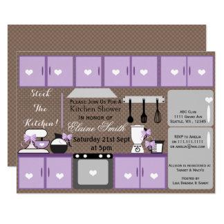 Estoque que bonito o chá de panela da cozinha convite 12.7 x 17.78cm