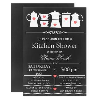 estoque que do quadro o chá de panela da cozinha convite 12.7 x 17.78cm