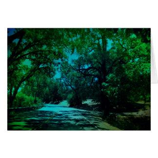 Estrada a Napa - Notecards vazio Cartão