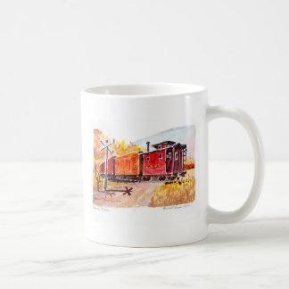 estrada de ferro-cruzamento, estrada de caneca de café