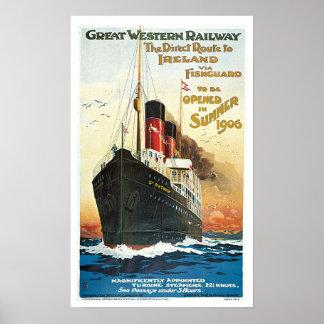 Estrada de ferro de Great Western das viagens Poster