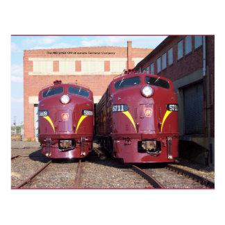 Estrada de ferro E-8a de Pensilvânia, s (JTFS) Cartão Postal