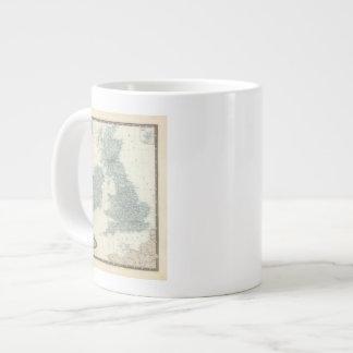 Estrada de ferro e canais de ilhas britânicas jumbo mug