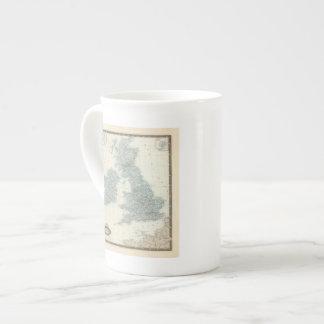 Estrada de ferro e canais de ilhas britânicas bone china mug