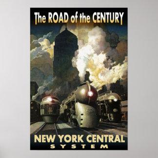Estrada de NYC do século Póster
