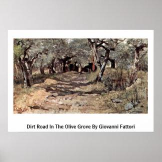 Estrada de terra no bosque verde-oliva por Giovann Posteres