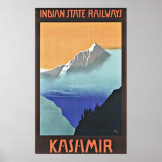 Estradas de ferro de Kashmir India das viagens Poster