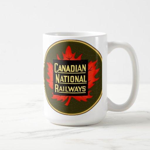Estradas de ferro nacionais canadenses caneca