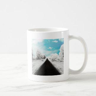 Estradas diárias abstratas do inverno caneca