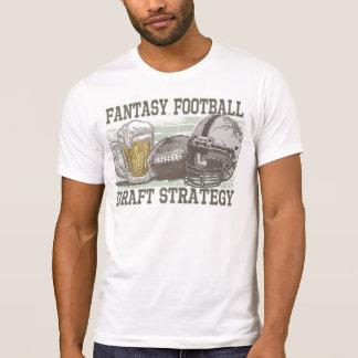Estratégia do esboço do futebol da fantasia camisetas