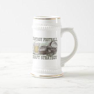 Estratégia do esboço do futebol da fantasia caneca de chopp