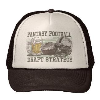 Estratégia do esboço do futebol da fantasia bone