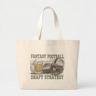 Estratégia do esboço do futebol da fantasia sacola tote jumbo