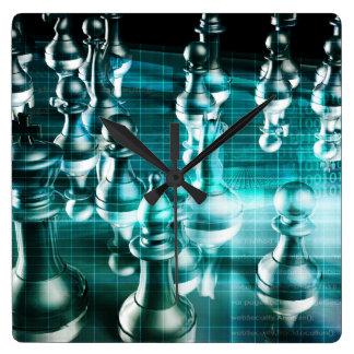 Estratégia empresarial com um conceito do conselho relógios de paredes