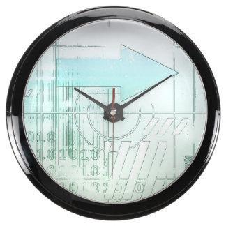 Estratégia empresarial do marketing como um relógios aquário