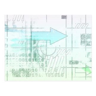 Estratégia empresarial do marketing como um cartão postal