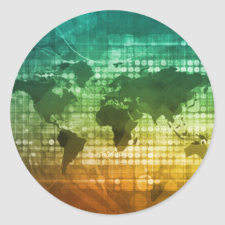 Estratégia empresarial e desenvolvimento globais adesivo