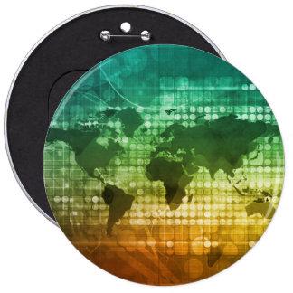 Estratégia empresarial e desenvolvimento globais bóton redondo 15.24cm