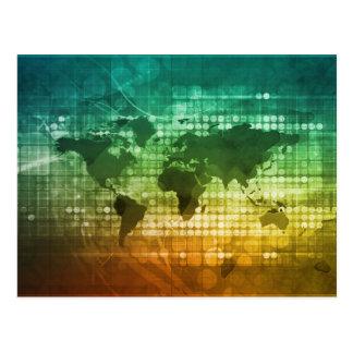 Estratégia empresarial e desenvolvimento globais cartão postal