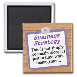 Estratégia empresarial ímã quadrado