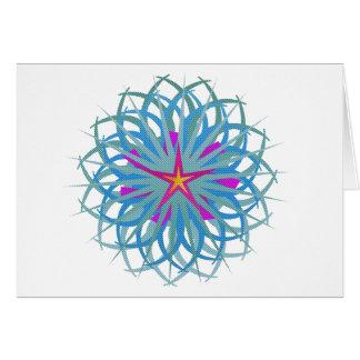 Estrela abstrata cartão comemorativo
