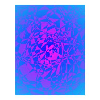 Estrela azul metálica modelo de panfleto