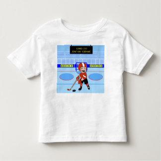 Estrela bonito personalizada do hóquei em gelo camisetas