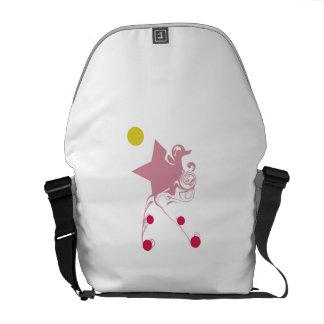 Estrela cor-de-rosa da mágica bolsa mensageiro
