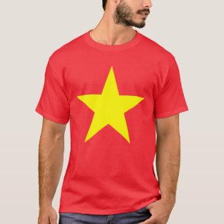 Estrela da bandeira de Vietnam Camiseta