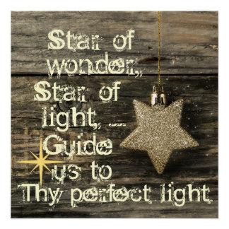 Estrela da canção de natal do Natal do poster da Poster Perfeito