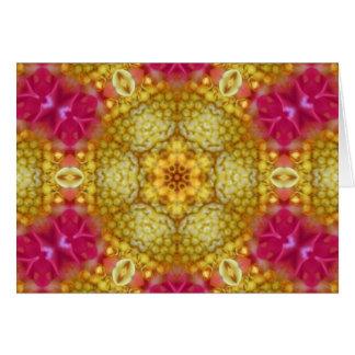 Estrela da flor da harmonia cartão comemorativo