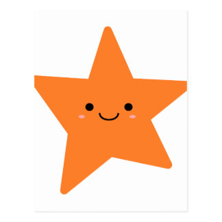 Estrela da laranja de Kawaii Cartão Postal