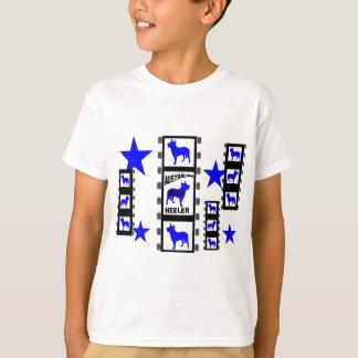 Estrela de cinema azul de Heeler no filme Tshirt