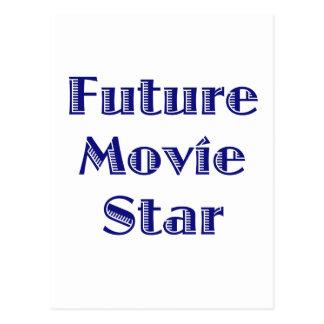 Estrela de cinema futura cartão postal
