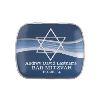 Estrela de David azul da onda
