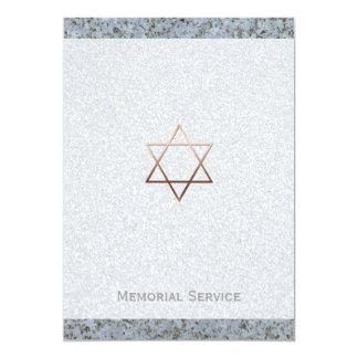 Estrela de David de cobre/cerimonia comemorativa Convite 12.7 X 17.78cm