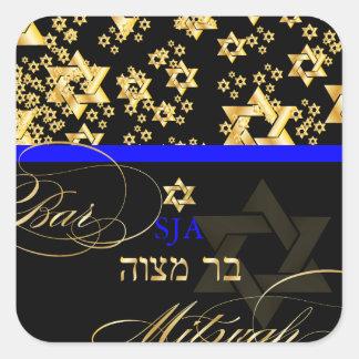 Estrela de David de PixDezines/bar Mitzvah Adesivos Quadrados