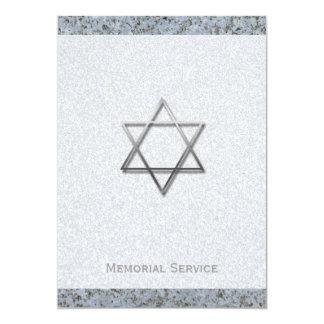 Estrela de David de prata/cerimonia comemorativa