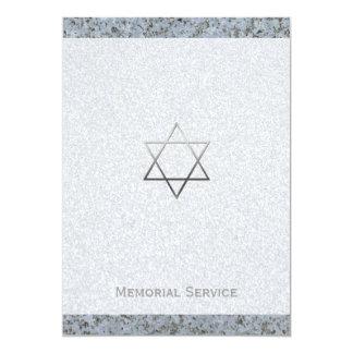 Estrela de David de prata/cerimonia comemorativa Convite 12.7 X 17.78cm