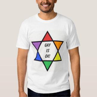 estrela de David do arco-íris, GayisOK! Camisetas
