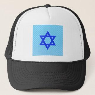Estrela de David em pontos de polca azuis Boné